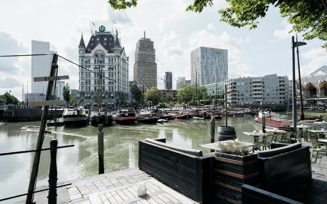 Uitzicht Rotterdam vanuit Avinci advocatenkantoor